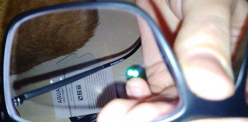 Результат очистки стекол очков салфеткой Гринвей