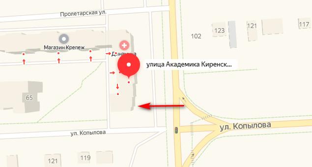 Адрес Гринвей на Киренского 67 в Красноярске