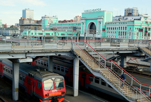 Фото железнодорожного вокзала г.Новосибирска